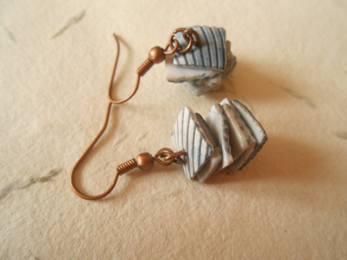 Náušnice - plátky perleti