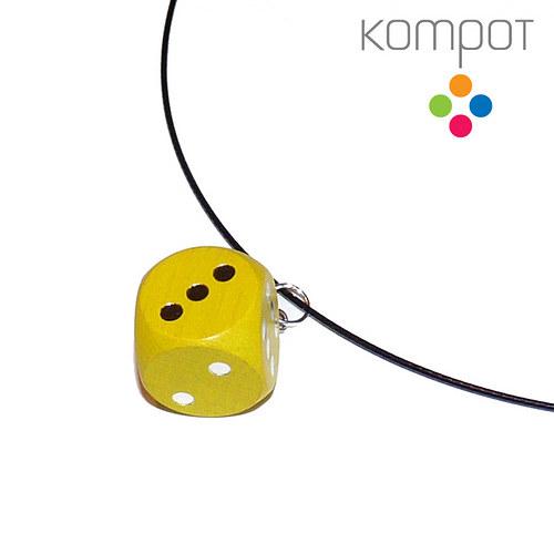 Náhrdelník s kostkou :: žlutý