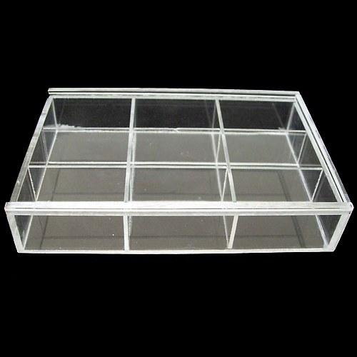Plastový box na korálky 15x15x3.5cm