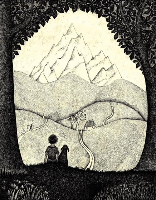 Autorský plakát Hora