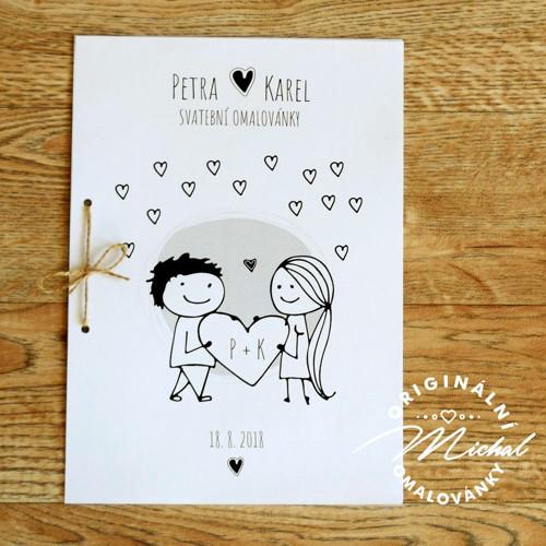 Svatební omalovánky - TYP 18