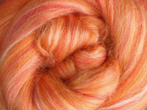 Česanec Merino s hedvábím - Saffron 25 g
