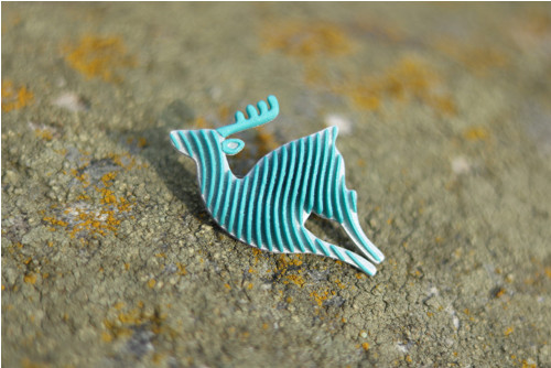 Jelen silver/turqouise blue