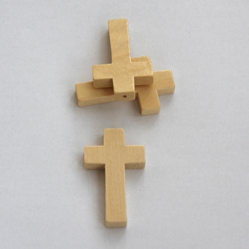dřevěný křížek - přírodní