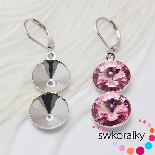 Náušnice na RIVOLI kám. 12 mm SWAROVSKI ® ELEMENTS