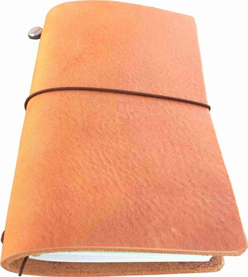 Diář / notes sv. hnědý- kůže 22x12,5 cm Missoury