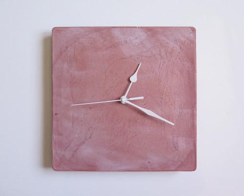 Ručne vyrobené nástenné hodiny – Terracotta pure c