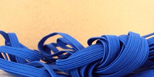 Pruženka/guma š.6 mm: Tm. modrá