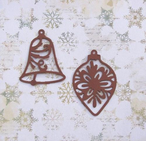 Filigránová baňka a zvonek (velké)