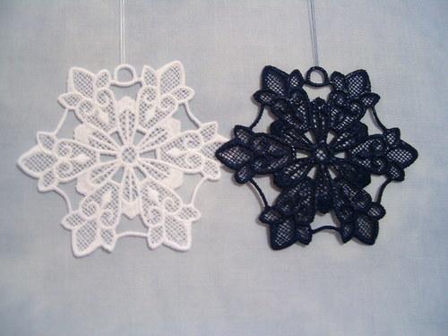 Vánoční ozdoba - sněhová vločka tmavěmodrá A6270