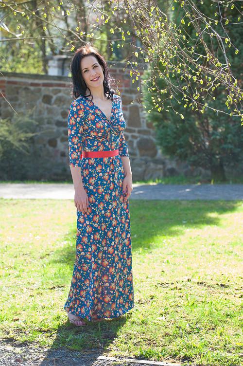 Dlouhé šaty Anett Bohyně - Folk, vel.S/M