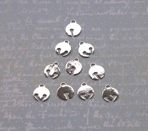 Rolničky stříbrné - 10 ks