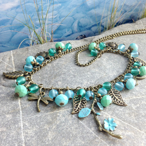 Na břehu jezera - náhrdelník
