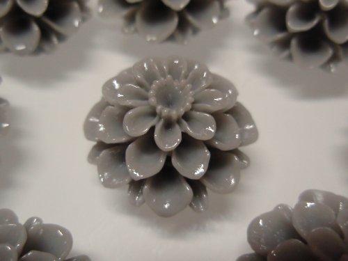 19863-B23 Kabošon květ SVĚTLE ŠEDÝ, bal. 2ks