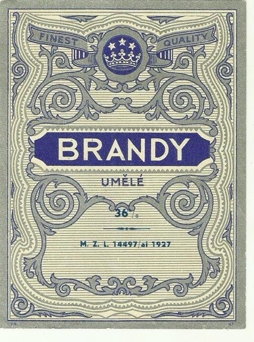Etiketa Brandy 1927