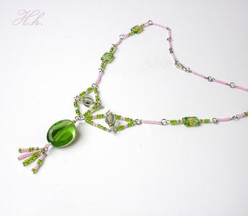 Náhrdelník - Zelený bonbon