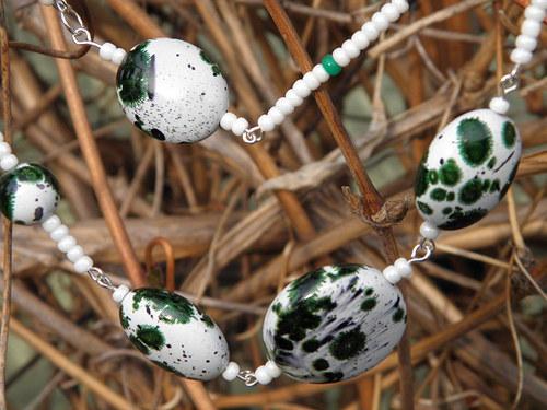 Strakatý náhrdelník SLEVA ZE111,-