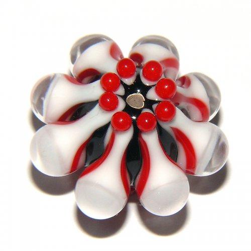 Vinutá perle - EXKLUZIV - černá + červená