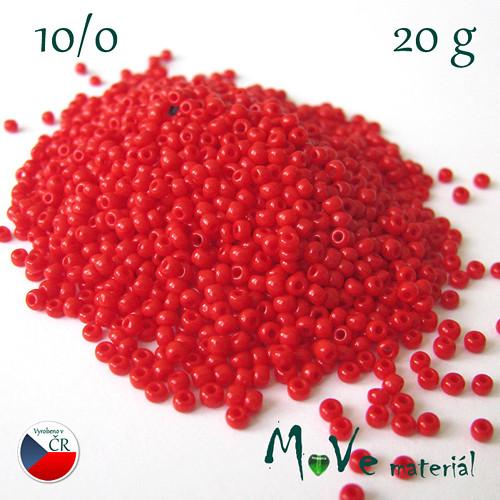 Český rokajl červený 10/0, 20 g