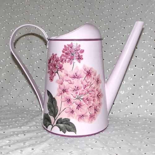 Konvička s růžovou hortenzií