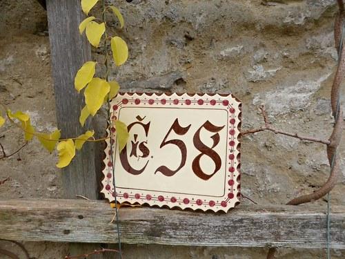 Keramické domovní číslo na zakázku