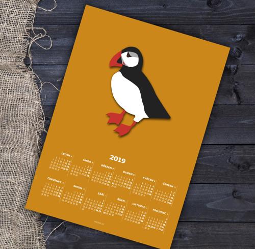 Kalendář 2019 - papuchalk Pipar