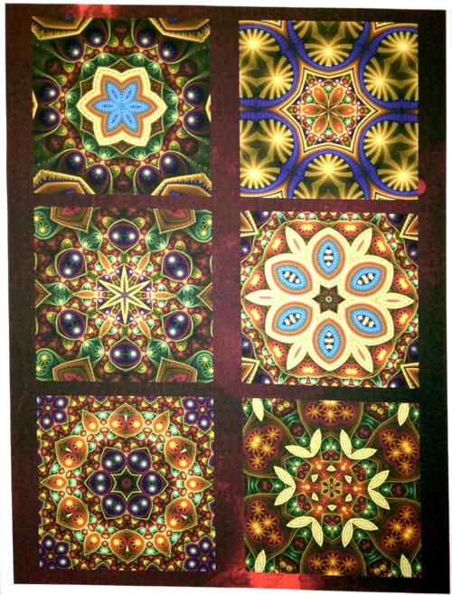 bavlněný panel - sada 24 x 34 cm