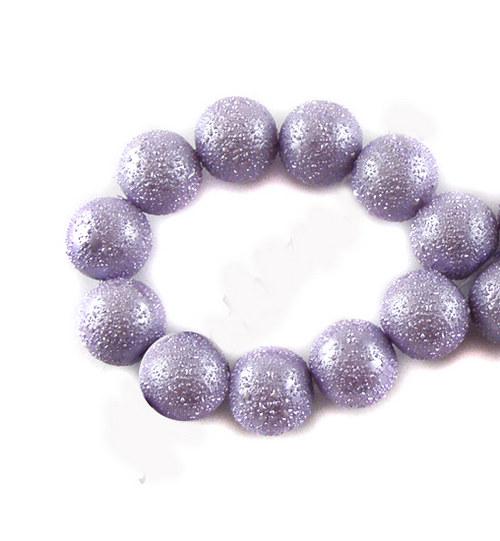 Zvrásněné perly průměr 6mm 20 ks barva sv. fialová