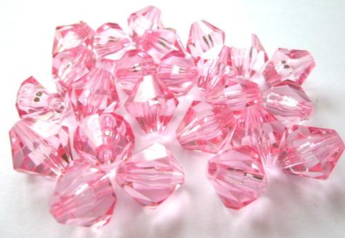 Korálky Cínovky růžové 14mm/10ks
