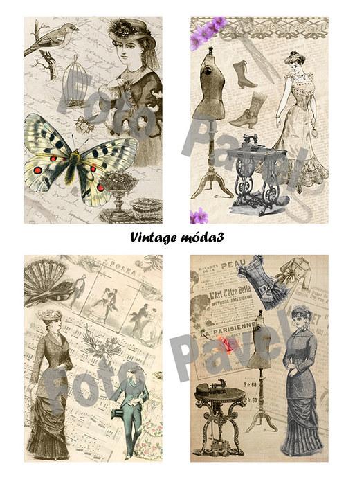 Vintage  motivy - móda 3