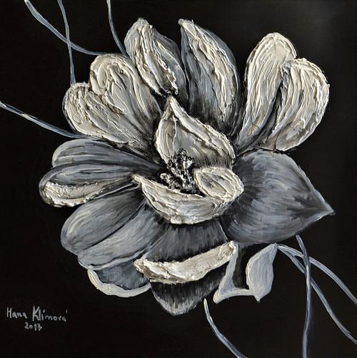 Černobílý květ
