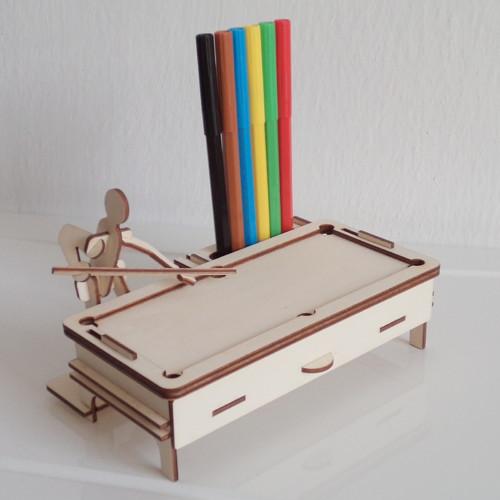 Stojánek na tužky a vizitky - kulečník