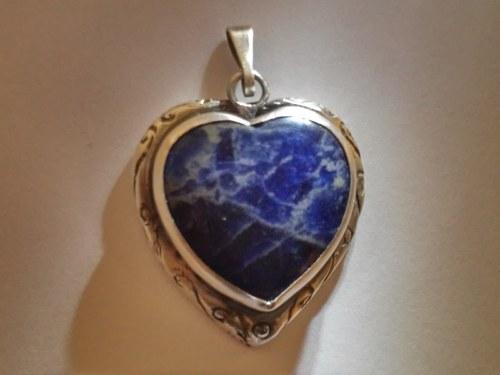 Přívěsek Pravé srdce Ag 925/1000 - originál