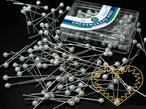 Perleťové špendlíky - 100 ks