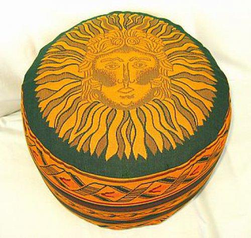 Taburetka zelená Slunce, špaldové slupky,16 cm