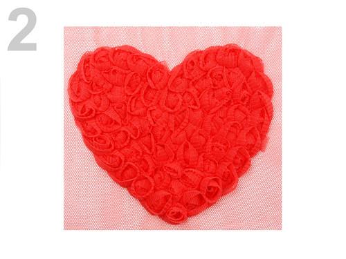 Aplikace srdce z růžiček *