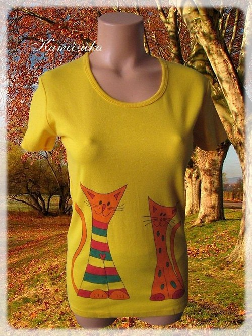 Dámské tričko s kočičkami