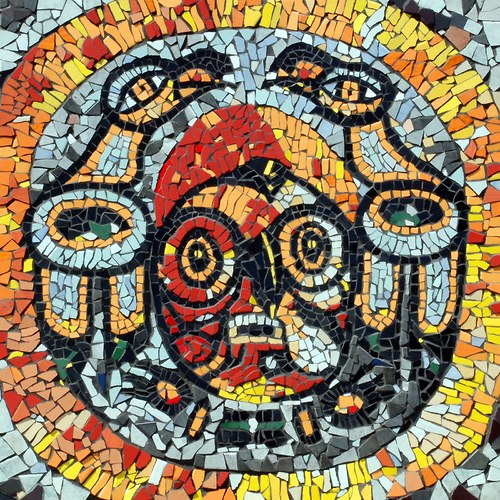 Mozaika -  Aztécký bůh