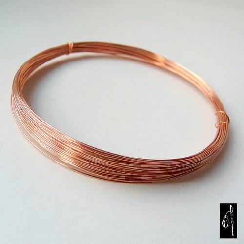 Nelakovaný měkký měděný drát 0,4 - 10 m