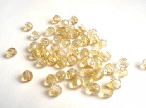 Broušené perle krystal s dekorem 6mm