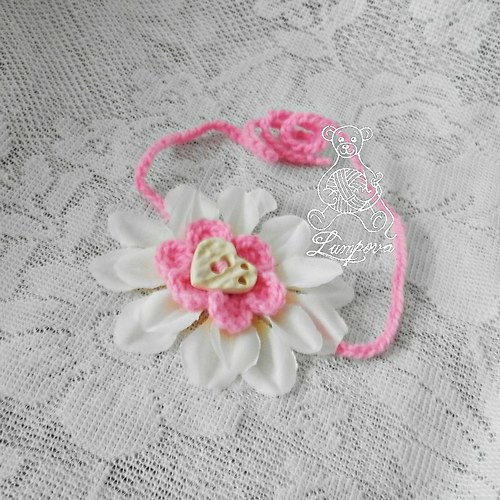 Čelenka - Květinka na focení