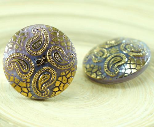1ks Opaque Violet Fialová Gold Leaf Hadí Kůže Orie