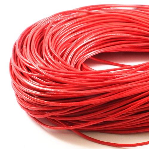 Kůže kulatá 2 mm červená 1 m