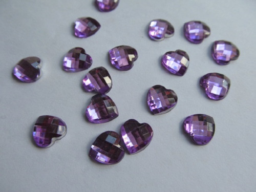 Srdíčko fialové - 9 mm - 15 ks/bal.