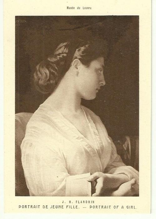 Umělecká pohlednice J.H.Flandrin