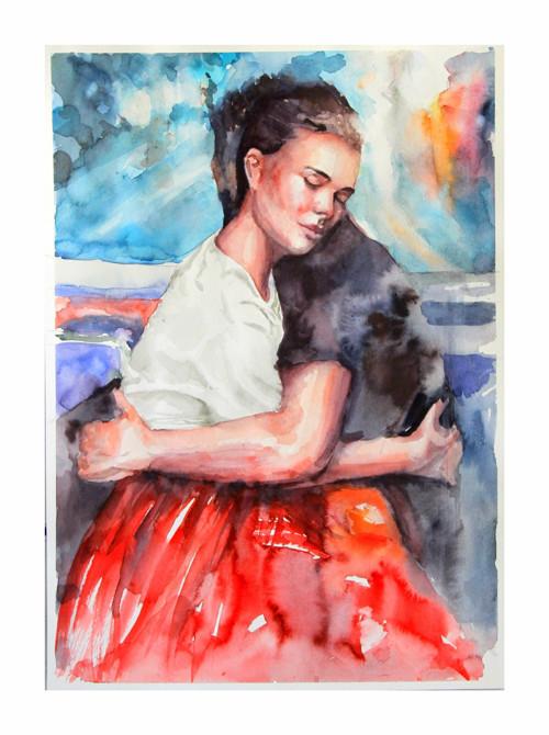 Serie Lide,Romantic portret, Originalni Obraz A3