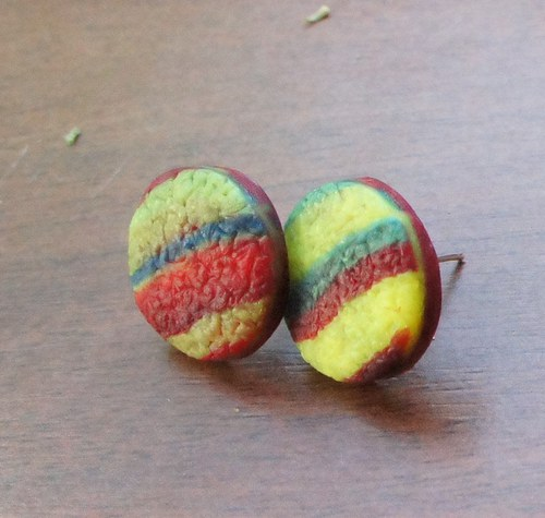 Pecky strukturované - červeno-žluté
