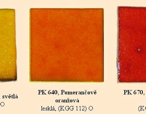 Glazura -PK 640, Pomerančově oranžová 3kg balení.