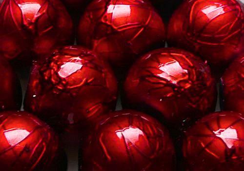 Metalky - 10 mm - 10ks - červená