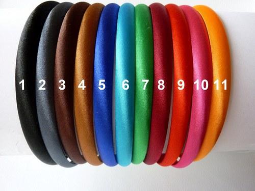 Saténové barevné čelenky: AKCE!!!